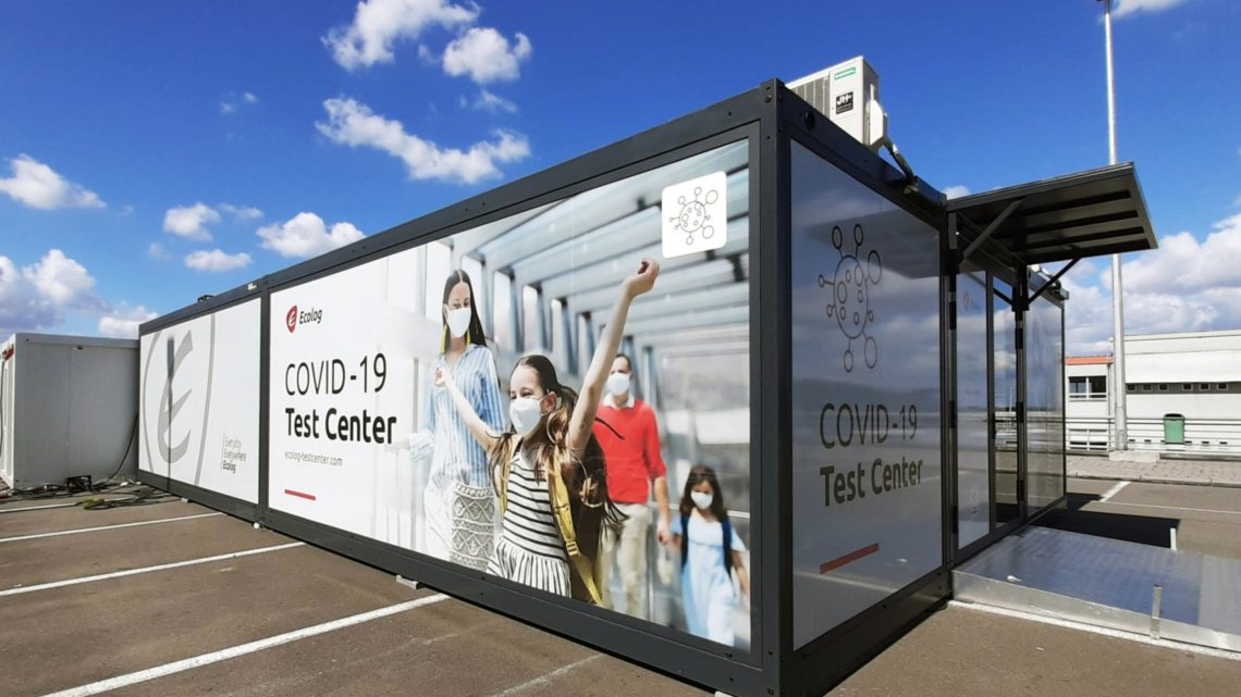 COVID-19 Test Centre op Brussels Airport