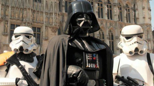 Flashback: Darth Vader verovert Brusselse Grote Markt