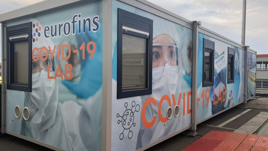 Mobiel COVID-19 lab op Brussels Airport operationeel